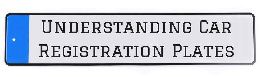 Understanding car registration plates