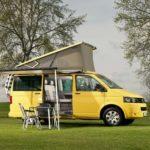 yellow vw california campervan