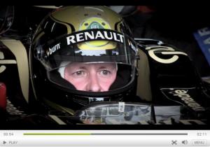driving a Lotus F1 car