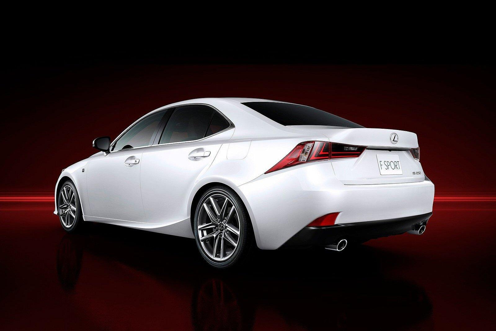 rear view of 2014 Lexus IS