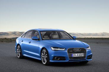 Blue Audi A6 exterior