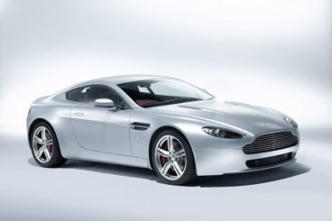 Aston Martin V8 Vantage side view white background