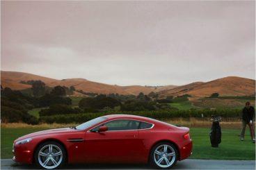 Aston Martin V8 Vantage side view