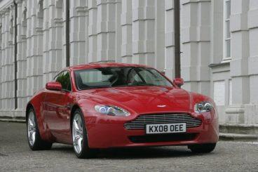 Aston Martin V8 Vantage front view parked