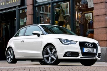 Audi A1 hatchback in white