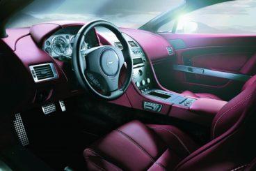 Aston Martin V8 Vantage Roadster interior is red leather