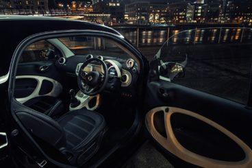 Smart ForTwo interior dashboard with door open