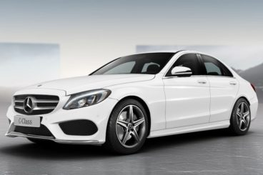 Mercedes C250 Polar White front view
