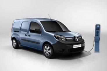Grey Renault Kangoo ZE Charging