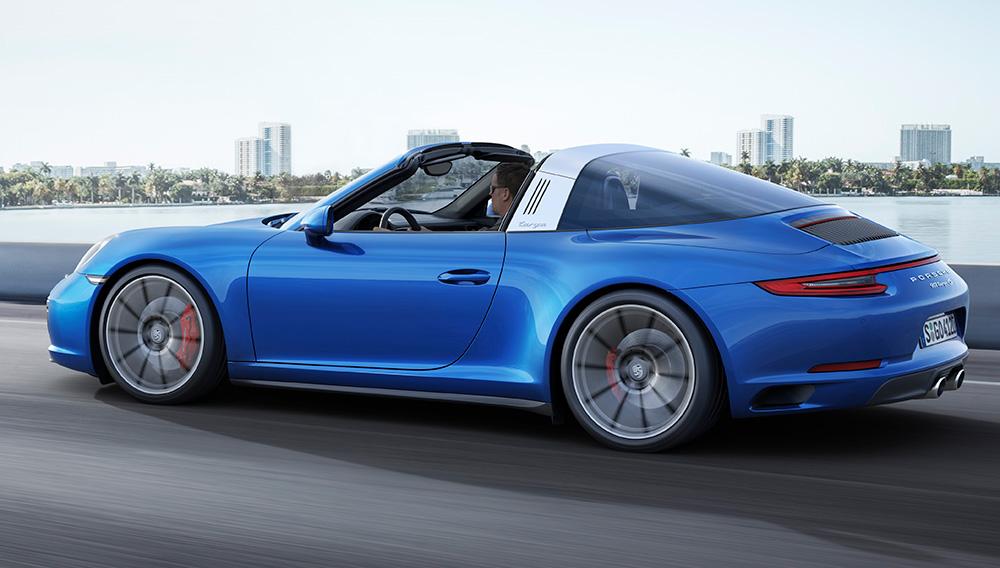 Porsche targa side view