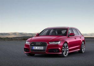 Red Audi Avant a6