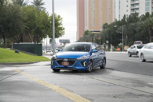 2017 blue Hyundai Ioniq Front