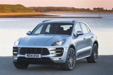 Porsche Macan SUV in silver front profile
