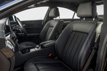 Interior photograph of a Mercedes CLS