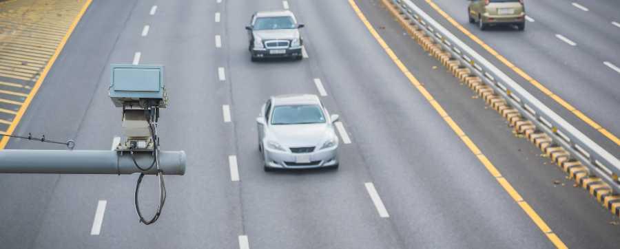 Speed camera on motorway