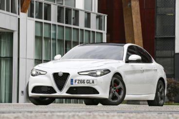 Alfa Romeo Giulia Diesel Saloon in white parked