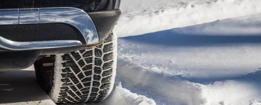Tyres in deep snow
