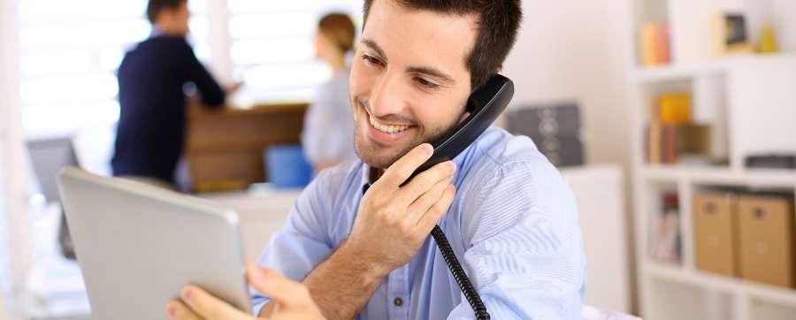 broker on phone